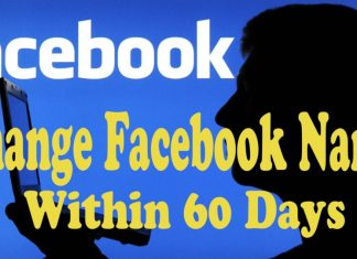Change my Facebook Profile Name Before 60 Days Limit