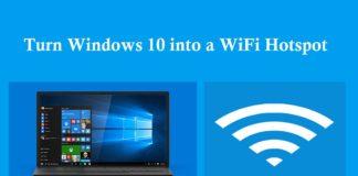 turn Windows 10 into a Wi-Fi hotspot