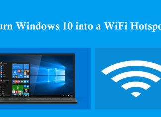 turn Windows 10 into a Wi-Fi hotspot