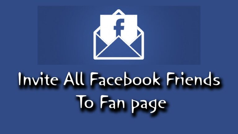 Invite All Friends To Like A Page On Facebook (2 Methods)