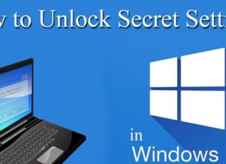Secret Setting Windows 10