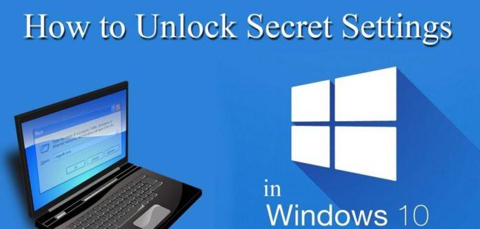 Secret Setting Windows 10