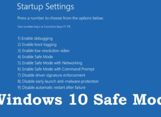 Boot Into Safe Mode on Windows 8 or 10