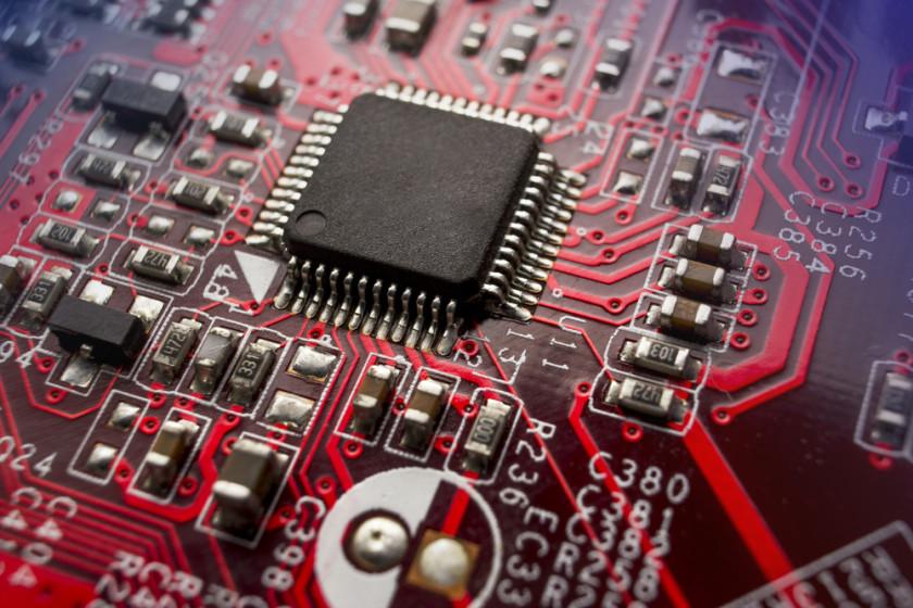 Processor chip on circuitboard