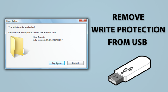 Remove Write Protection From USB Or SD Card