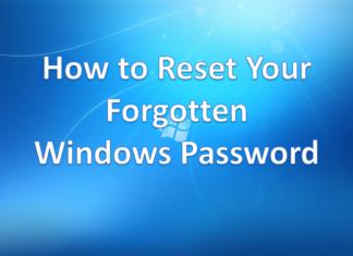 Reset Forgotten Windows Password