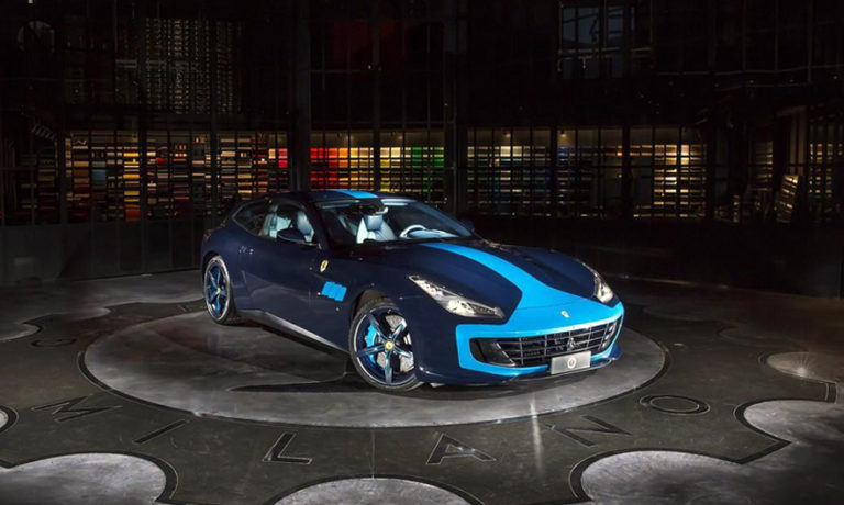 A Blue Ferrari That Will Drive Mad (Photo)