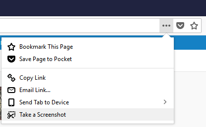 take scrolling screenshot using Firefox Quantum