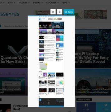 Take Scrolling Screenshot Of A Website Using Firefox Quantum?