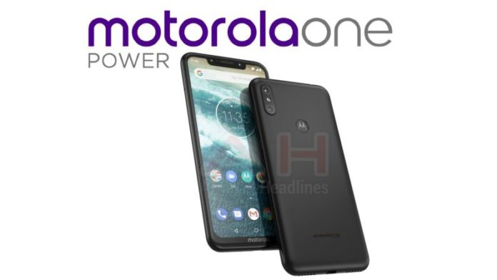 Motorola One Power leak shows Android One phone with a notch