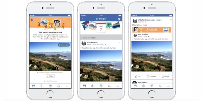 Facebook Memories Launched, a Expansion of Its 'On This Day' Feature