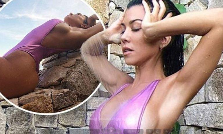 Kourtney Responds to Kim With Swimsuit (PHOTO)
