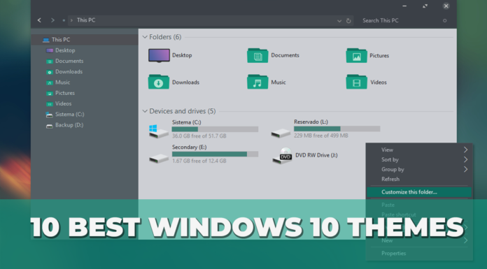 Best Windows 10 Themes (Top 10)