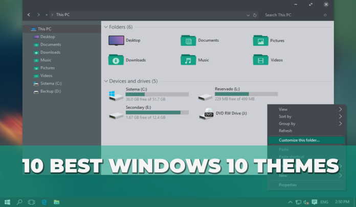 Best Windows 10 Themes (Top 10)