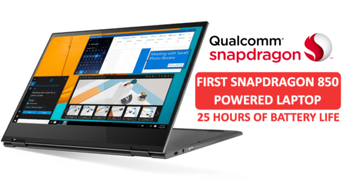 Meet The First Snapdragon 850-Powered Laptop With 25 Hours Of Battery Life