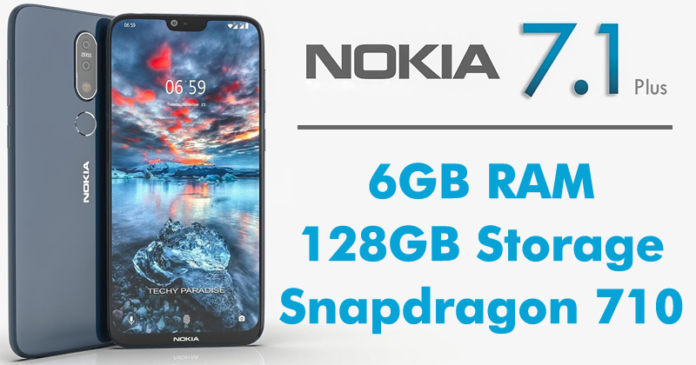 Nokia 7.1 Plus Incoming With Snapdragon 710 SoC,6GB RAM, 128GB Internal,