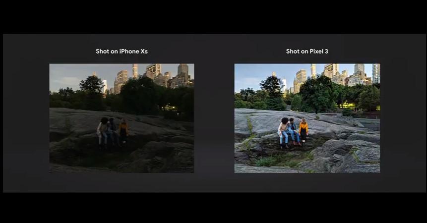 iPhone Xs Vs Pixel devices Photo