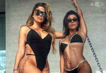 Kourtney Kardashian and Larsa Pippen