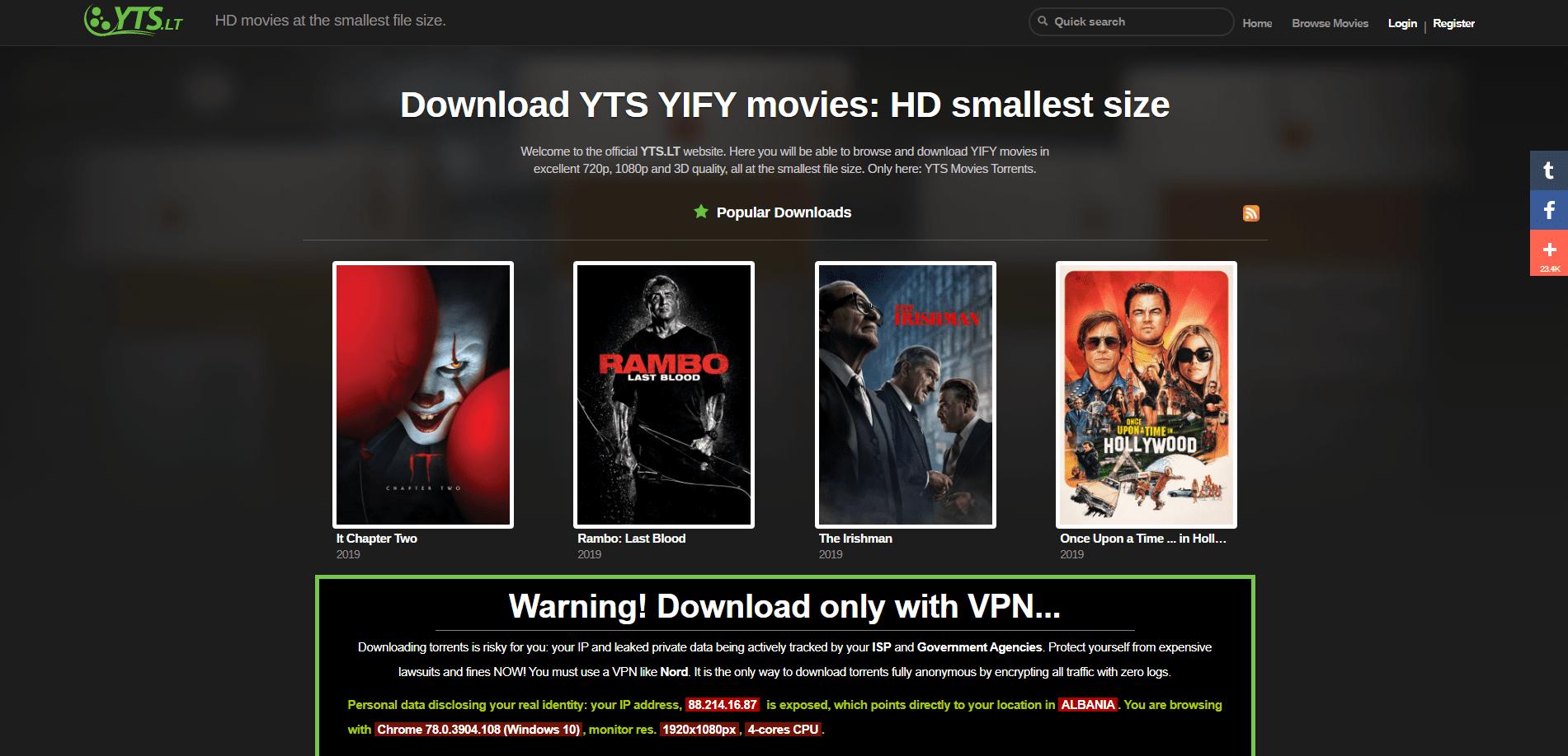 YTS Movies
