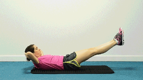#6. Exercises for abdominal muscles with two legs