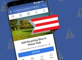 Facebook with a new function to support the causes