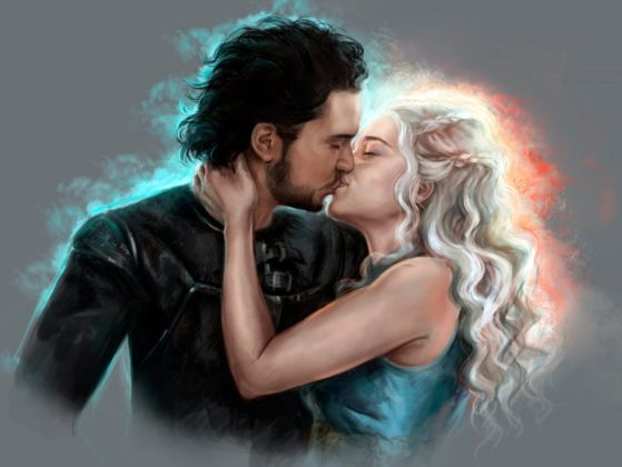 jon snow and daenerys game of thrones wallpaper