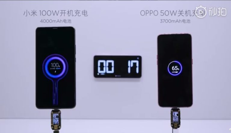 Xiaomi reveals the 100W charger that charges 4,000 mAh battery in just 17 minutes (VIDEO)