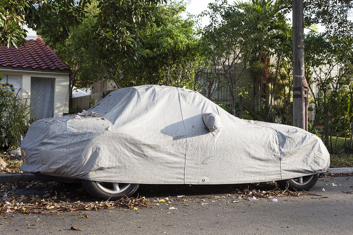Cover the car