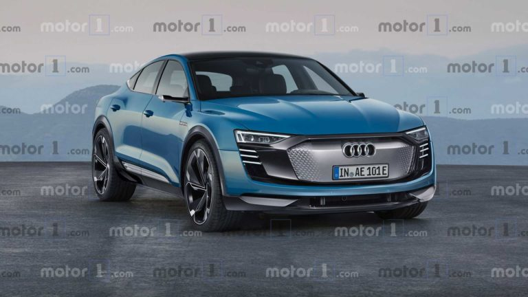 This is the Audi E-Tron Sportback, the electric crossover with 330 km range