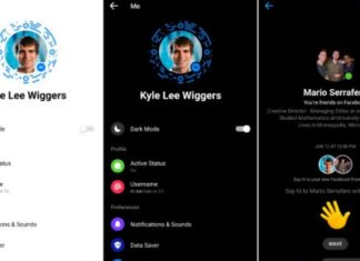 """Dark Mode"" is official in the Messenger application"