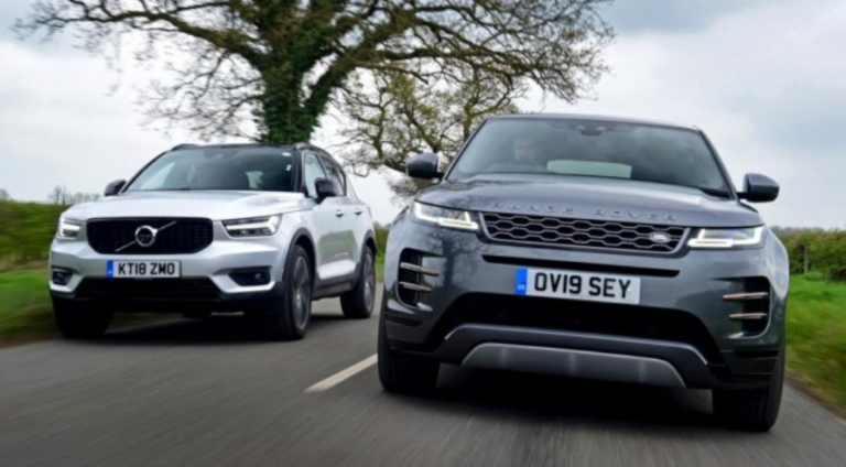 Comparison: Range Rover Evoque vs. Volvo XC40
