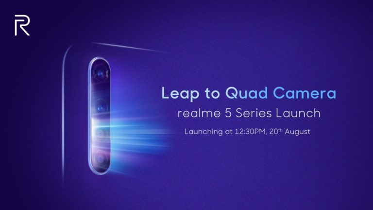 Realme 5 and 5 Pro with four cameras, will be launched this month