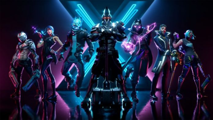 Fortnite Season X with giant robots and new spaces for exploration