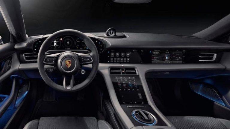 The high technology inside the Porsche Taycan