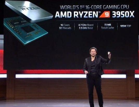 AMD postpones the debut of Ryzen 9 3950X 16-core processor cos of fear to high demand