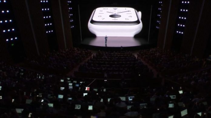 The 5th generation of Apple Watch has a screen that stays on always
