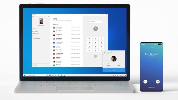 Windows 10 brings Android phone calls to computer