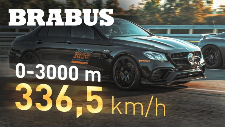 Brabus 800 is a Mercedes AMG E63 S with a top speed of 337 km/h