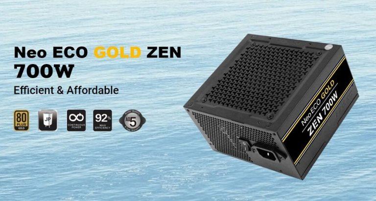 Antec brings its new line of computer supplies: NeoECO Gold Zen