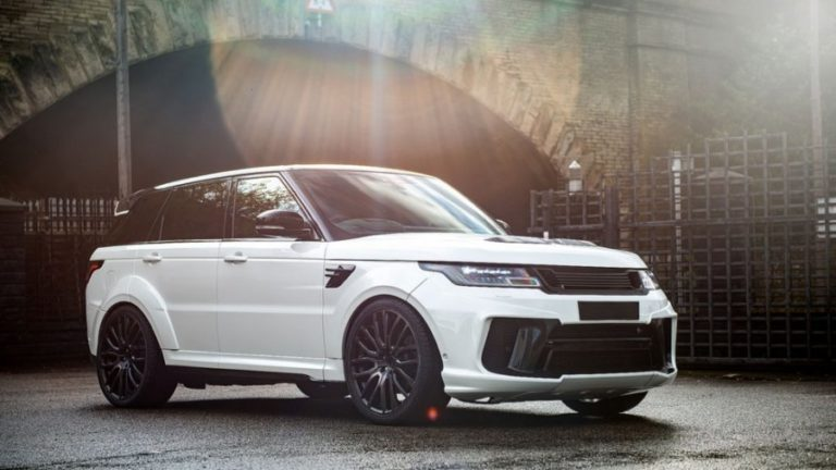 "Project Kahn unveiled the new ""pearl"": Cayman Pearl Range Rover Sport SVR Pace Car"