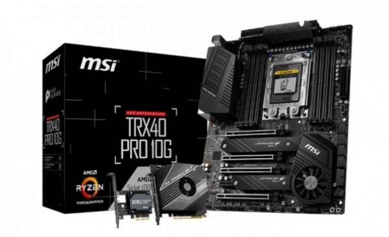 The first photos of MSI TRX40 motherboard