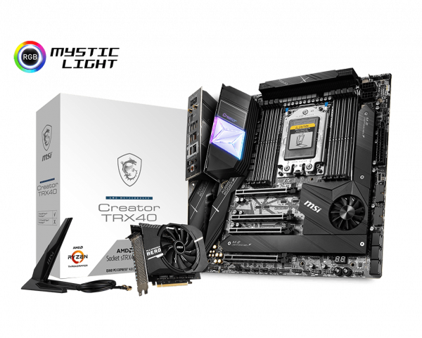 MSI announced three TRX40 motherboards