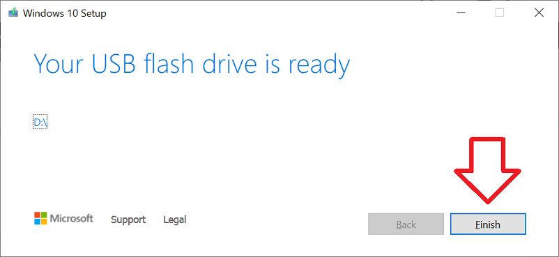 Windows 10 Media Too (Your USB flash drive is ready)
