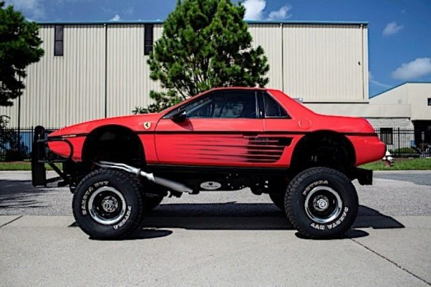 auto 1984 pontiac fiero custom is a macabre ferrari testarossa chevy blazer mashup 51577289621
