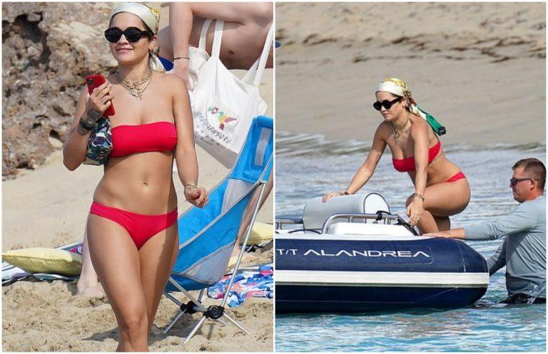 Rita Ora in winter vacation on the beach, amazes with bikini (Photo)