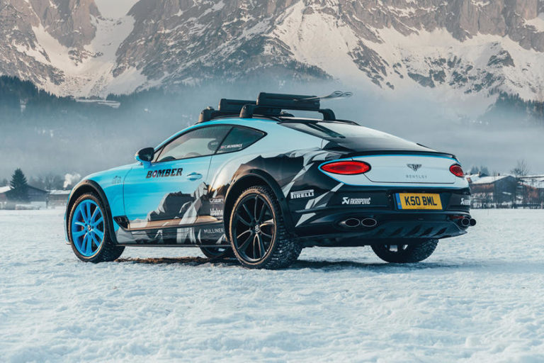 Bentley Continental GT Transformed into a Race Car for Ice Tracks