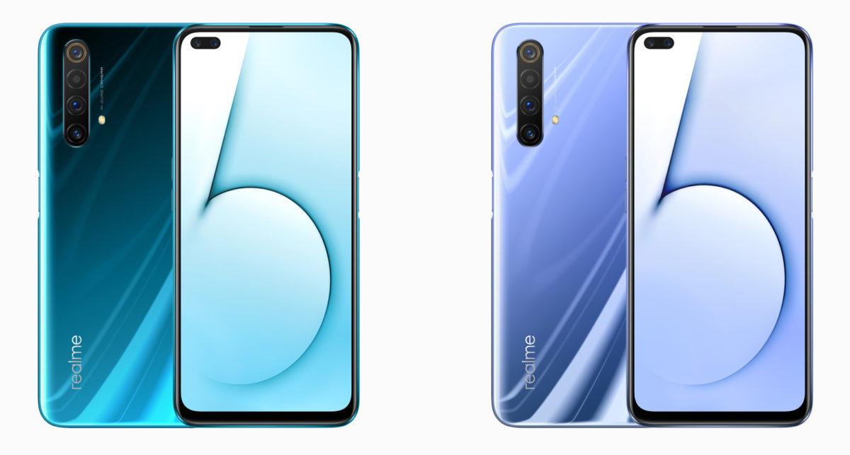 The Realme X50 5G comes in two colors. Glaciers (left) and Polar (right).