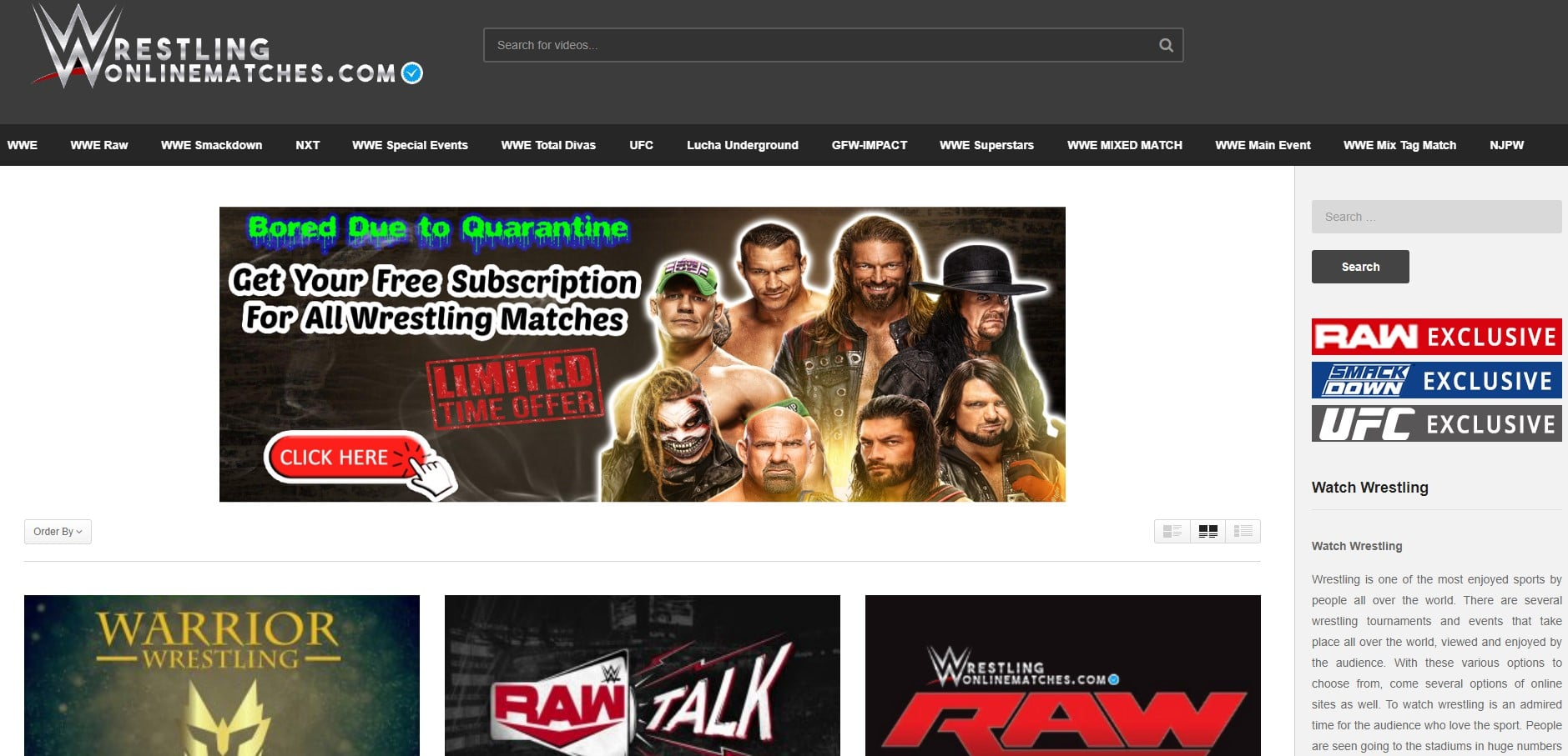 Wrestling Online Matches