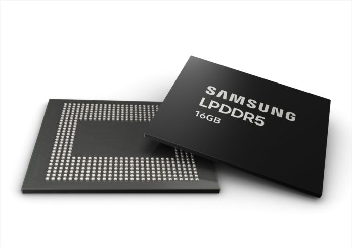 16 GB LPDDR5 DRAM