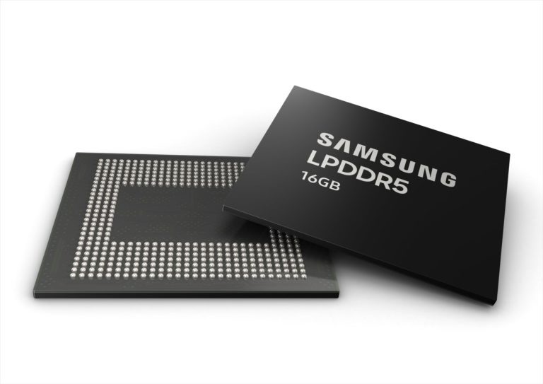Samsung Starts Mass Production of First 16 GB LPDDR5 DRAM for Next-Gen Premium Smartphones